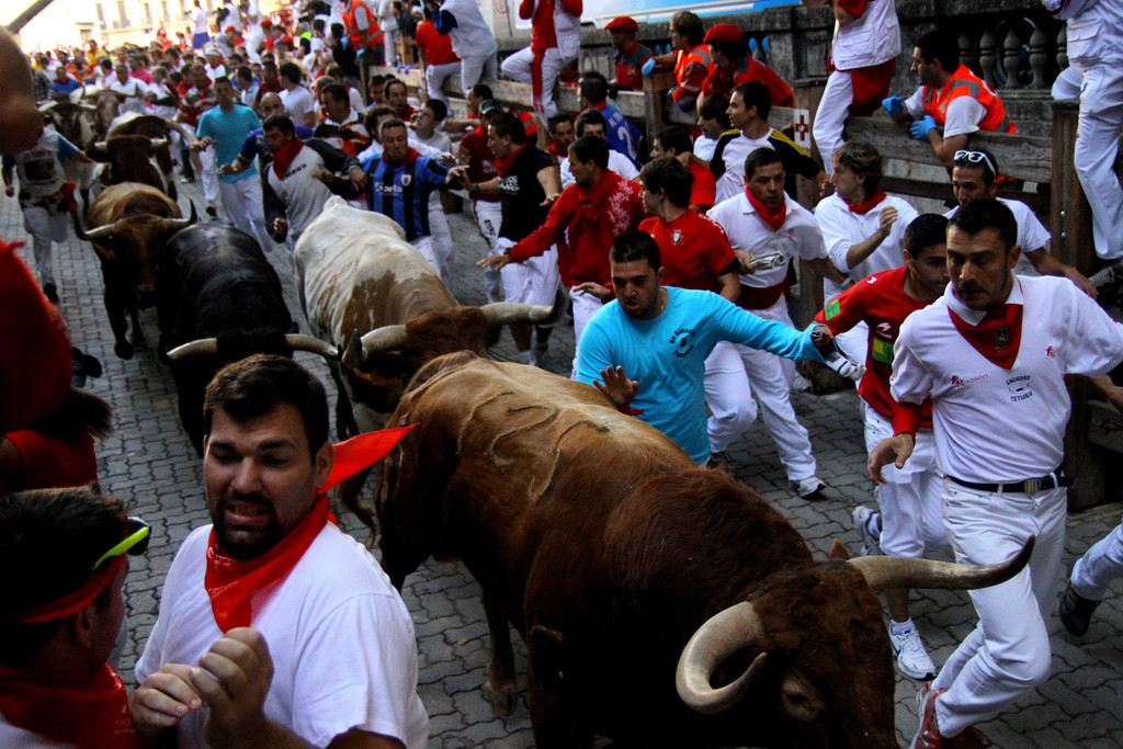 Running of the Bulls, Spain via Flickr by Asier Solana Bermejo (CC-BY-SA 2.0)