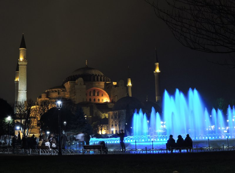 The Hagia Sophia in her lit up glory