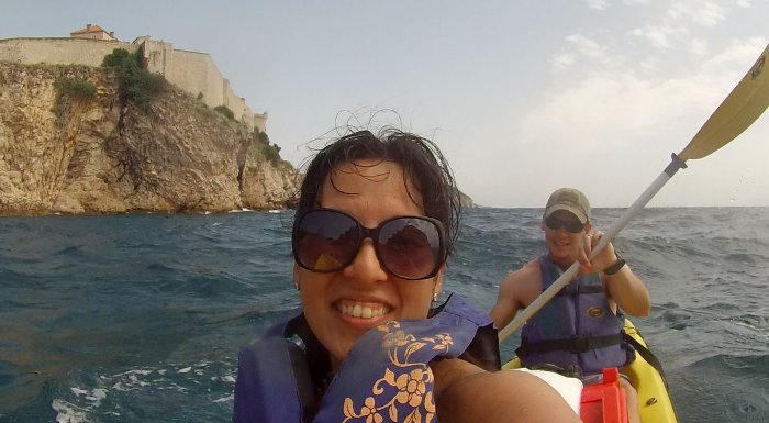 Kayaking is a great way to sightsee Dubrovnik!