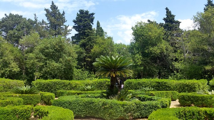 The beautiful and manicured gardens on Lokrum Island