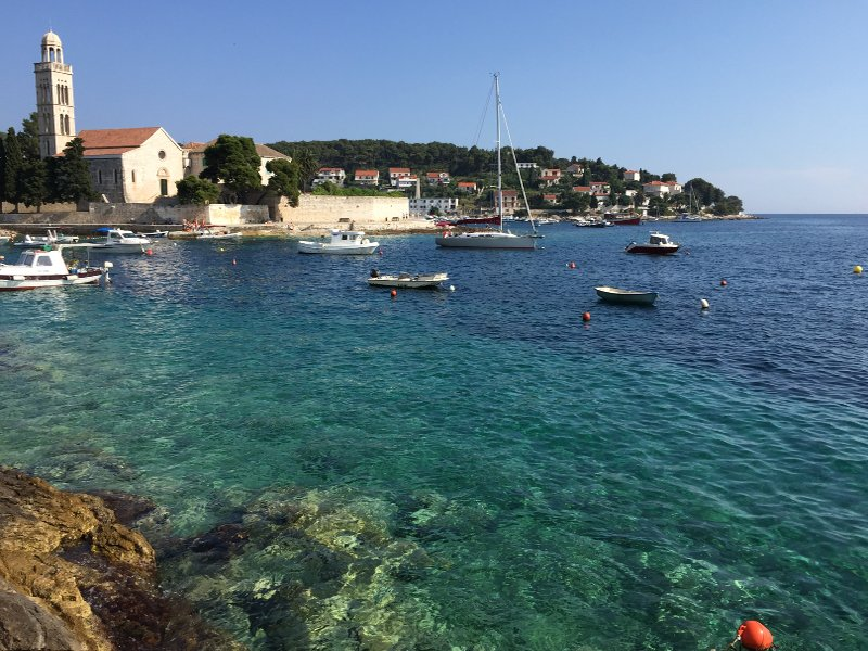 Beautiful crystal clear waters of Hvar
