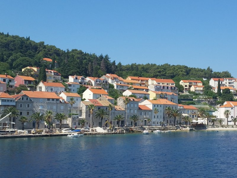 The beautiful coastline of Korcula, Croatia