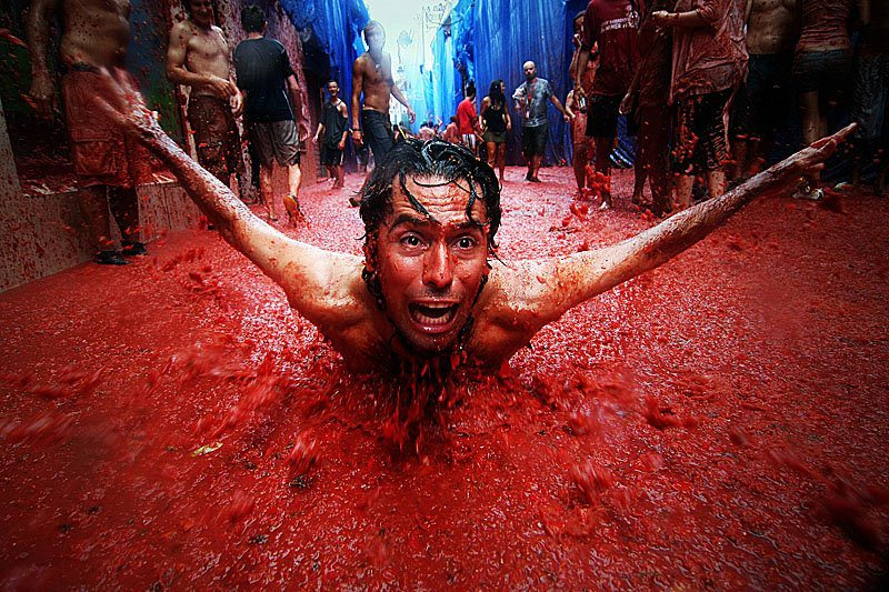 La Tomatina via Flickr by nedim chaabene (CC BY 2.0)