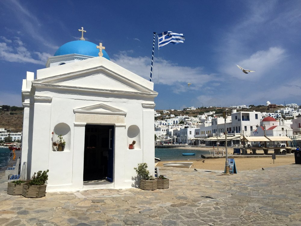 One of the many gorgeous churches on Mykonos