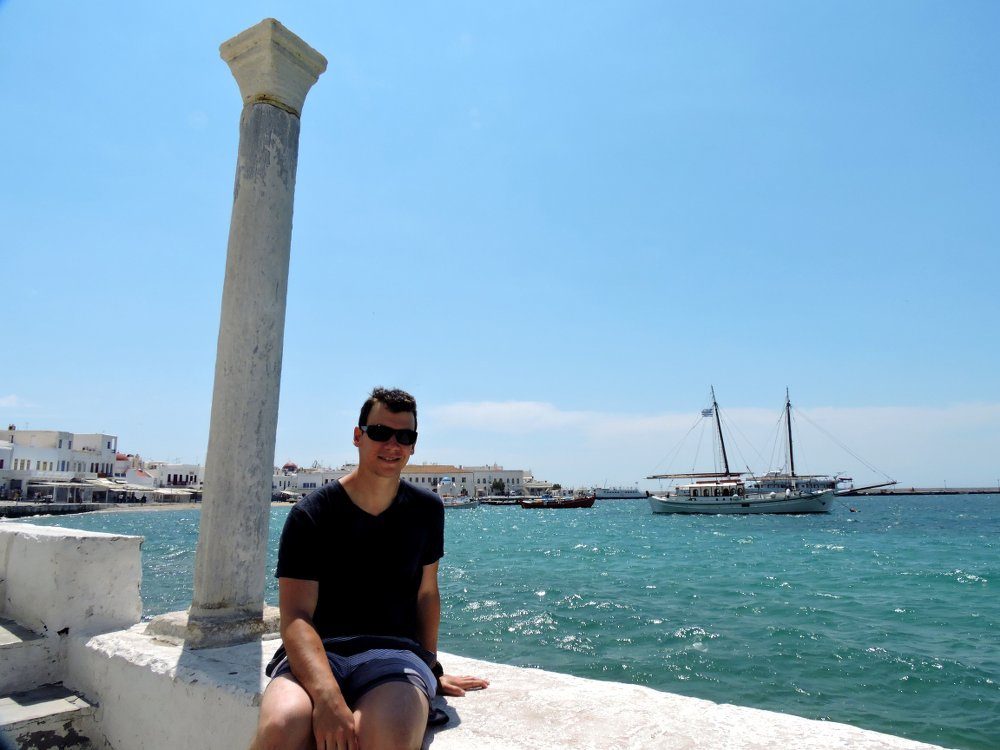 The Old Port of Mykonos is very pretty