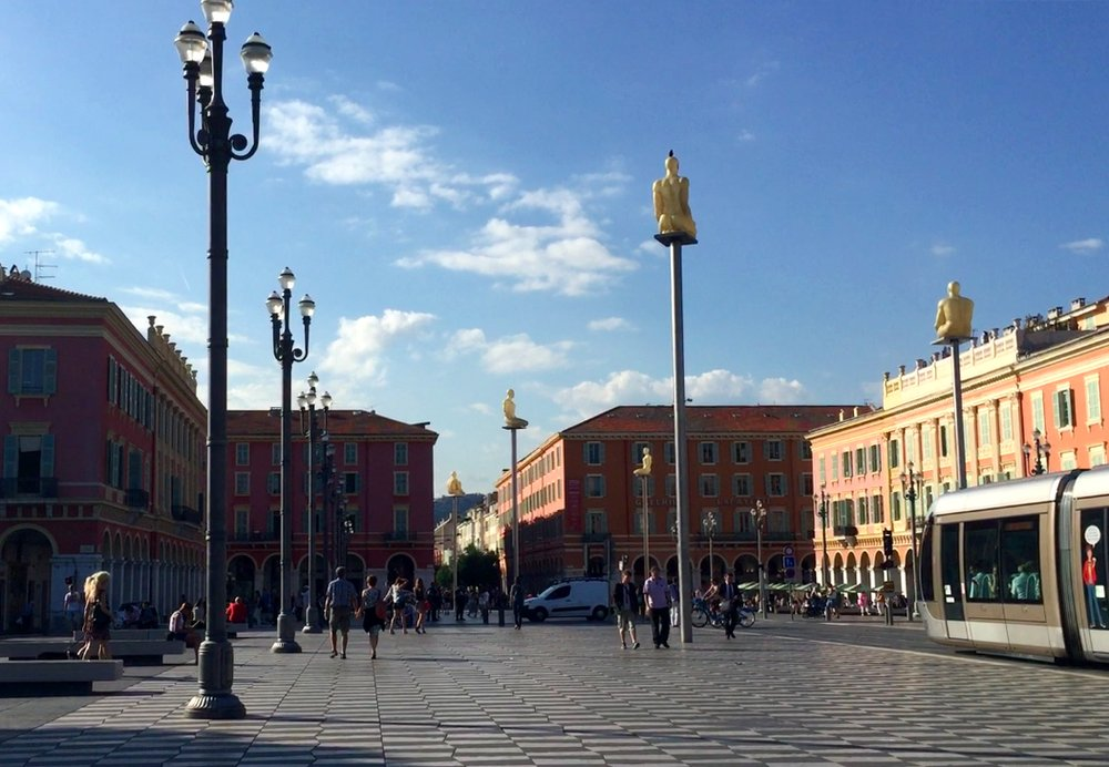 The 7 Statues of Place Massena