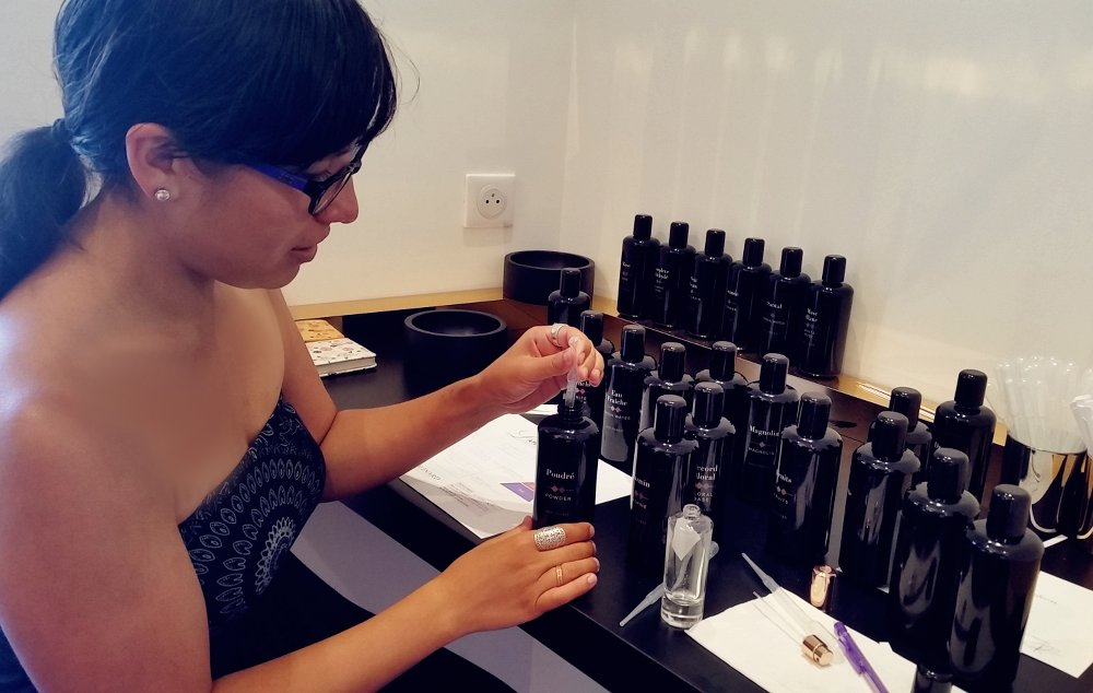 Picking scents and combining them to create a signature perfume