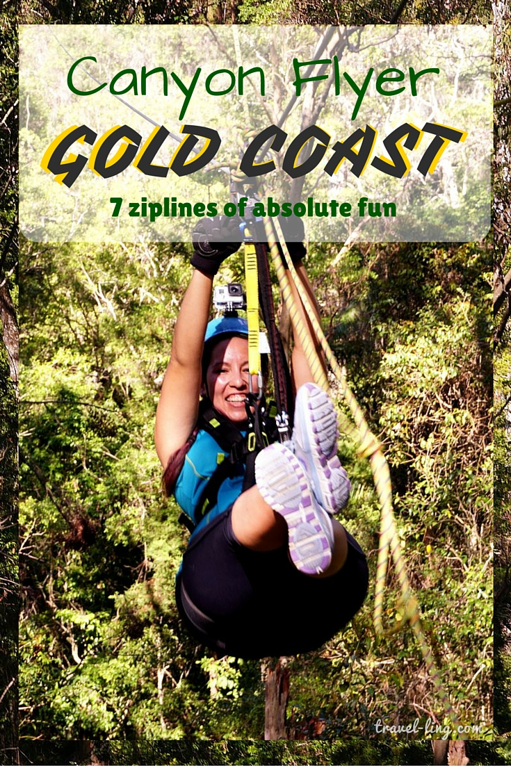 Ziplining through the Australian bush is an exhilirating experience