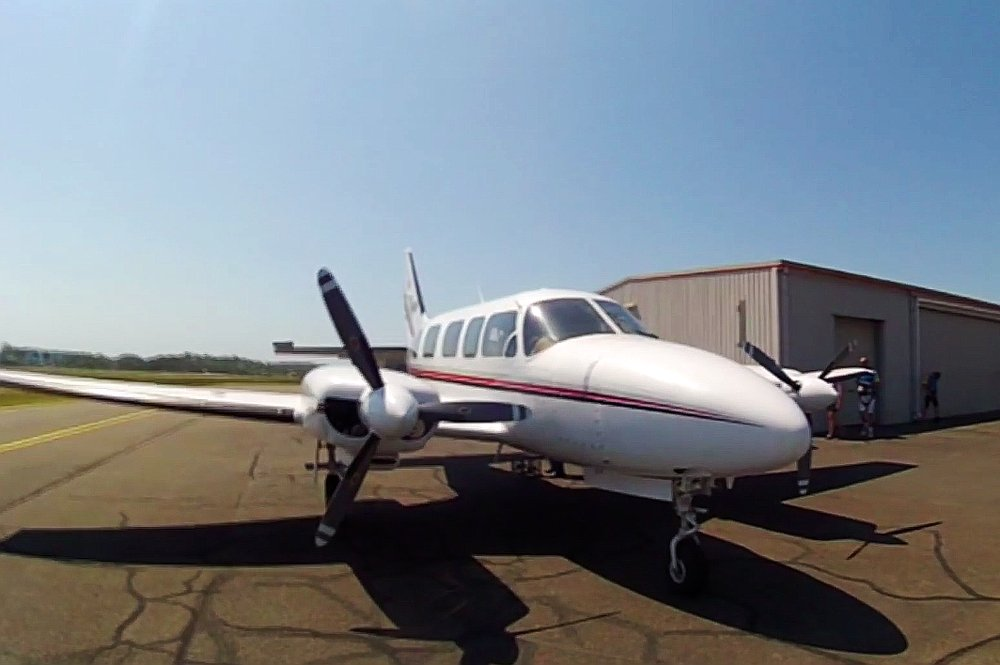 Our little plane that would take us up 12,000ft in the air...