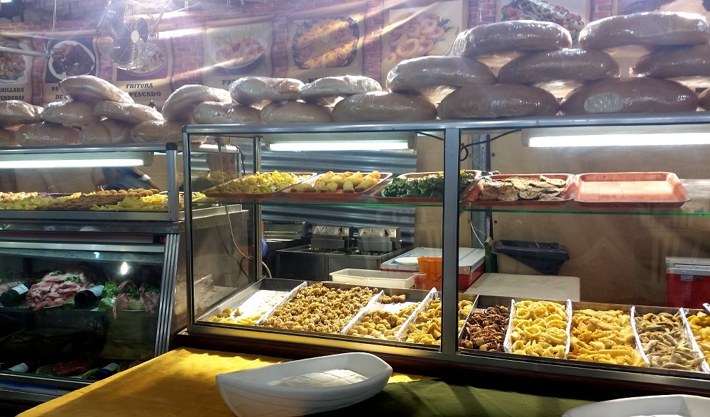 There's plenty of food on offer at the Feria in Córdoba