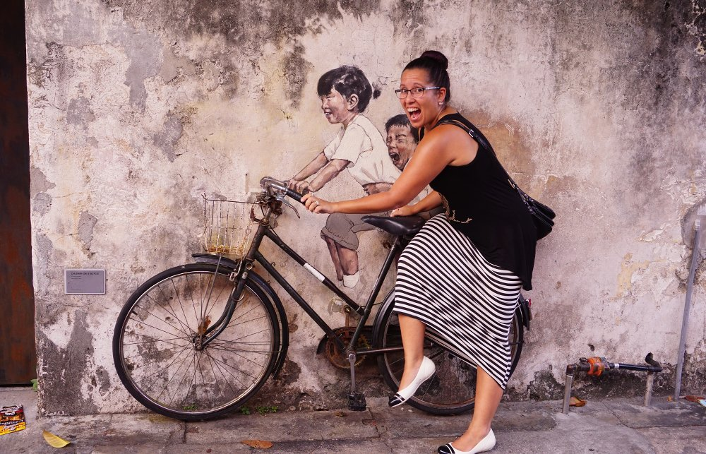 Ling & 'Little Children on a Bicycle' - Ernest Zacharevic
