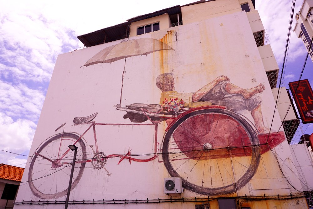 'The Awaiting Trishaw Paddler' - Ernest Zacharevic