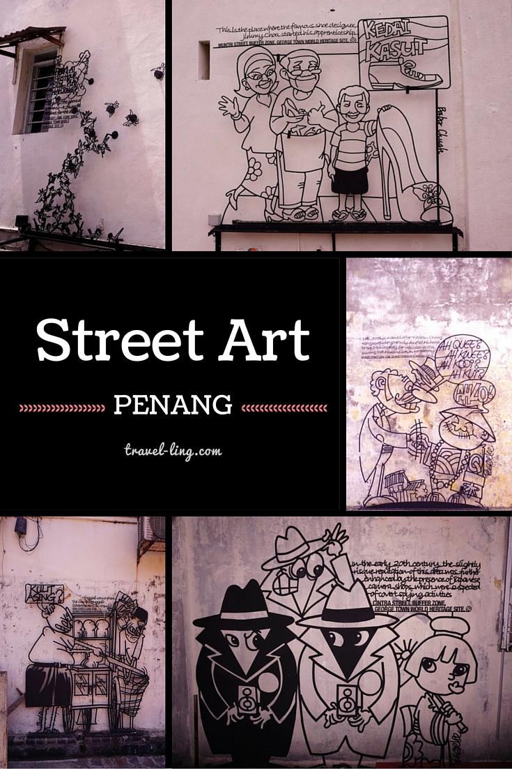 Penang street art, Malaysia