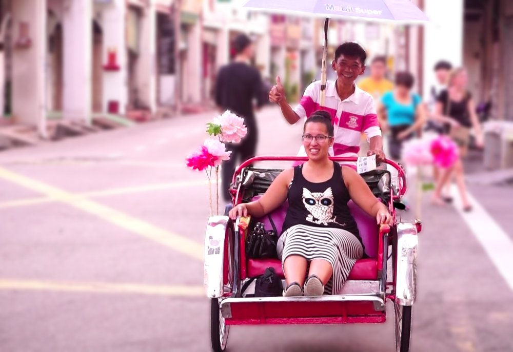 Getting around by trishaw is a fun way to see George Town