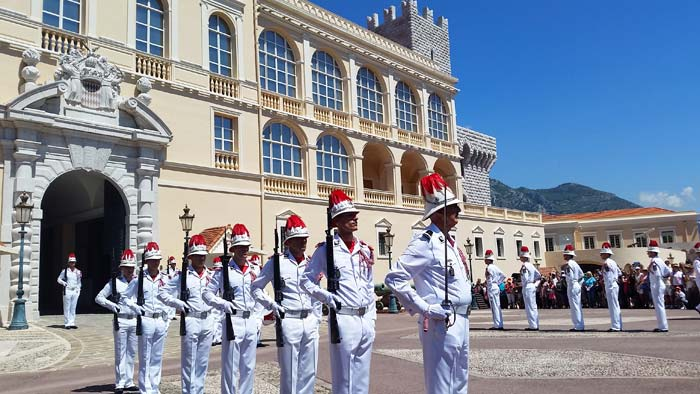 Changing of the Guard ceremony in front of the Princes Palace in Monaco