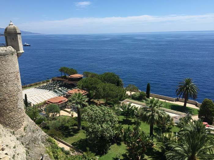 The view from a lookout on the Rue Bellando de Castro over the Mediterranean Sea