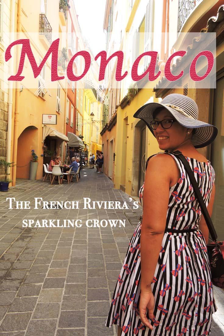 Walking down a street in Old Monaco