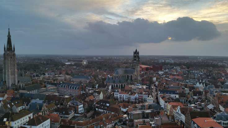 View from the top of the Belfry in Bruges