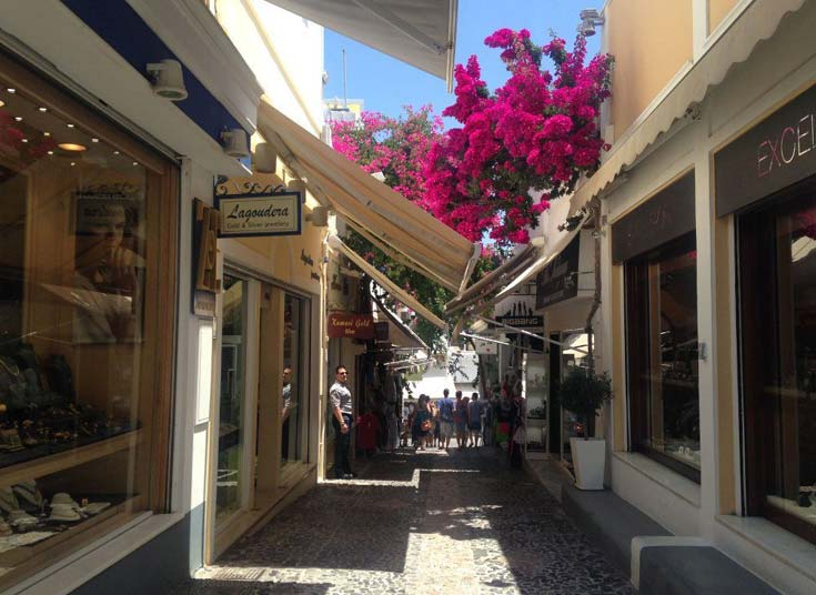 The streets of Fira are picture-perfect