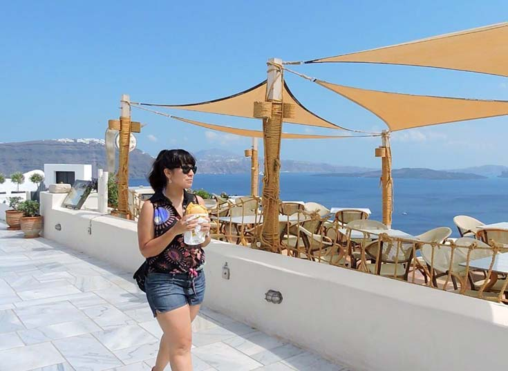 Santorini is the place for scenic walks