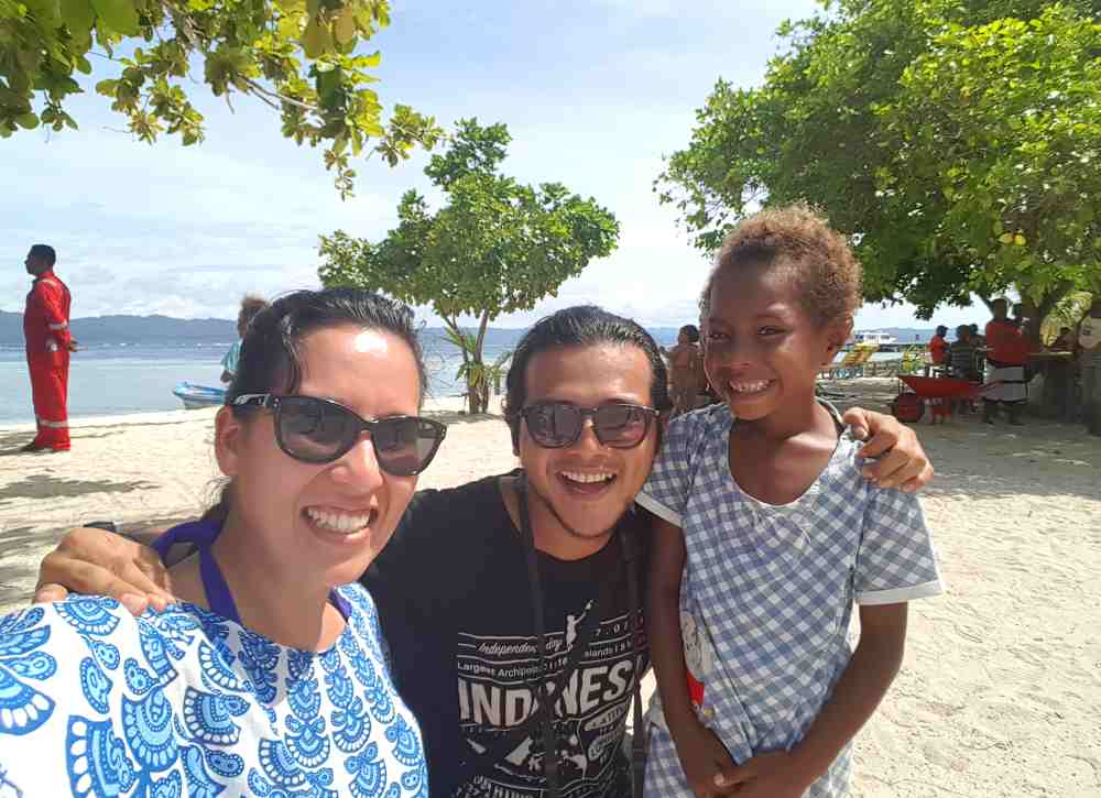 Friendly locals in Raja Ampat