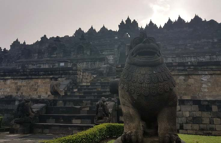 The entrance to Borobodur, Yogyakarta