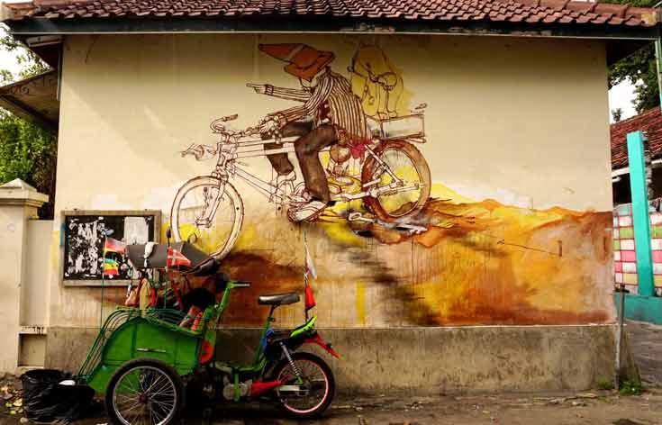 Street art in Yogyakarta Indonesia
