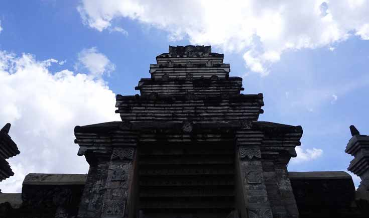 The traditional entrance to the royal graveyard complex in Yogyakarta Indonesia