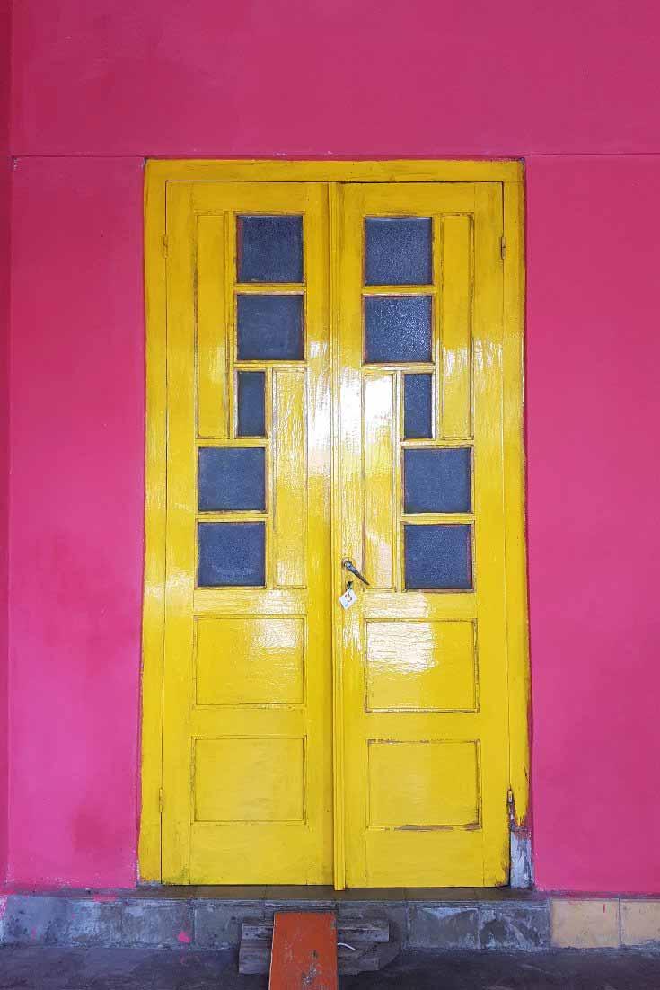 Colourful doors in Kotagede Yogyakarta