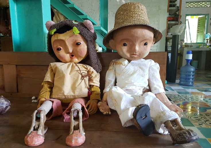 The adorable puppets from Paper Moon Puppet theatre