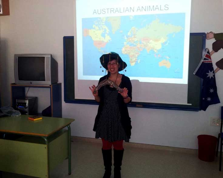Teaching Spanish students about Australia