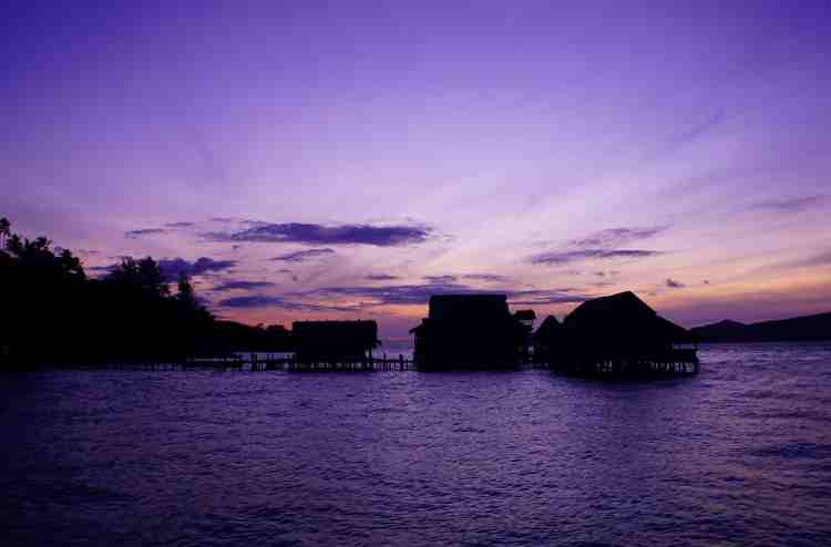 Magical sunsets Raja Ampat