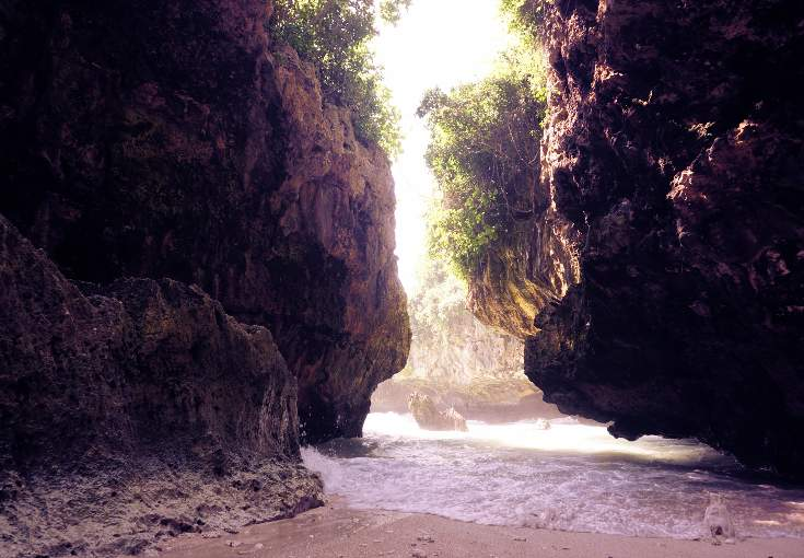 Cave beach near Suluban, Bali