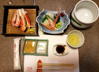 Crab dishes at Kani Douraku