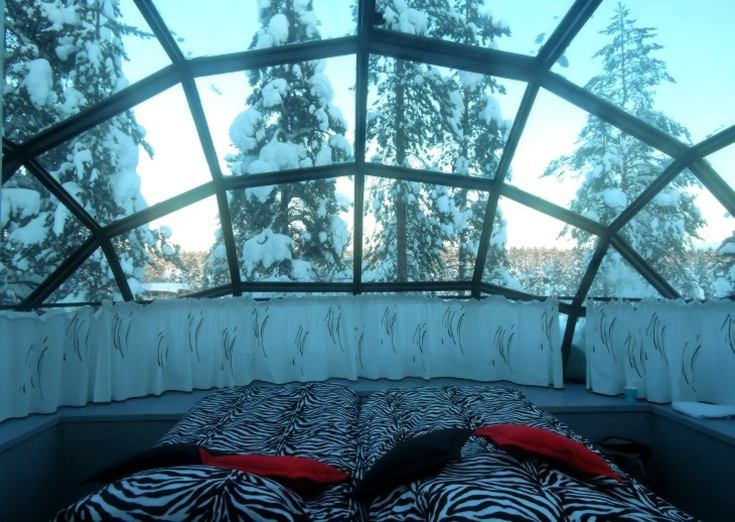 Bedroom goals in Kakslauttanen
