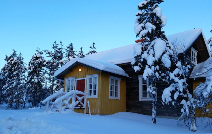 Cute winter cabins