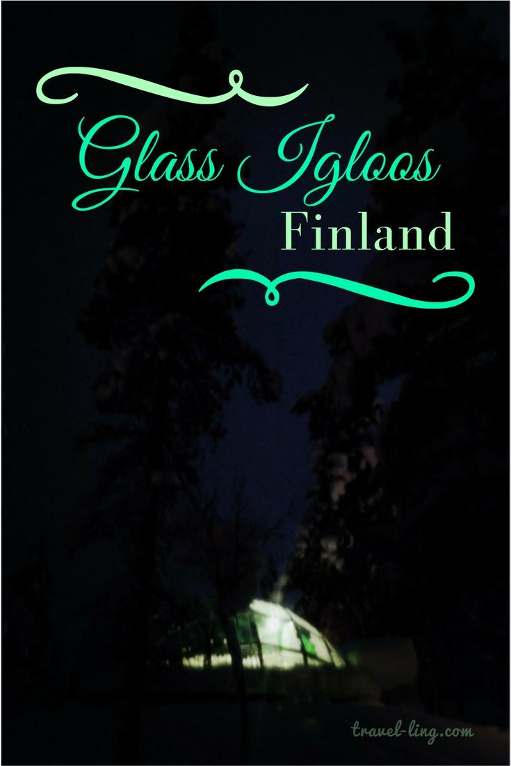 Glass igloos Kakslauttanen Finland