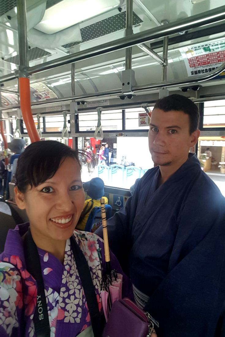 Riding pubic transport in a yukata be like...