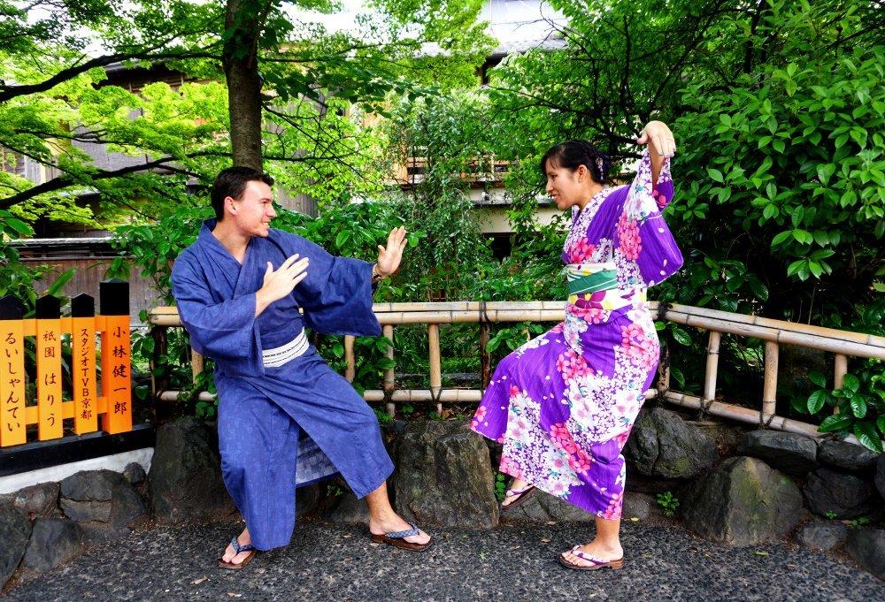 Couples kimonos in Kyoto