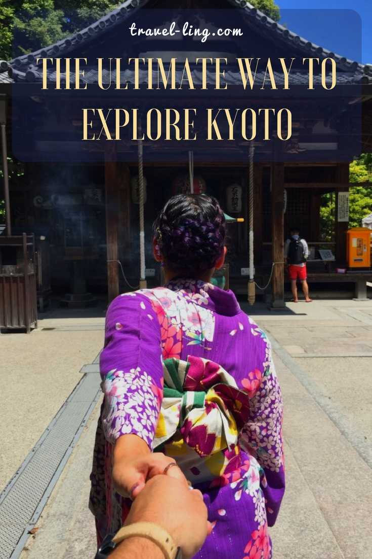 Exploring Kyoto in a kimono