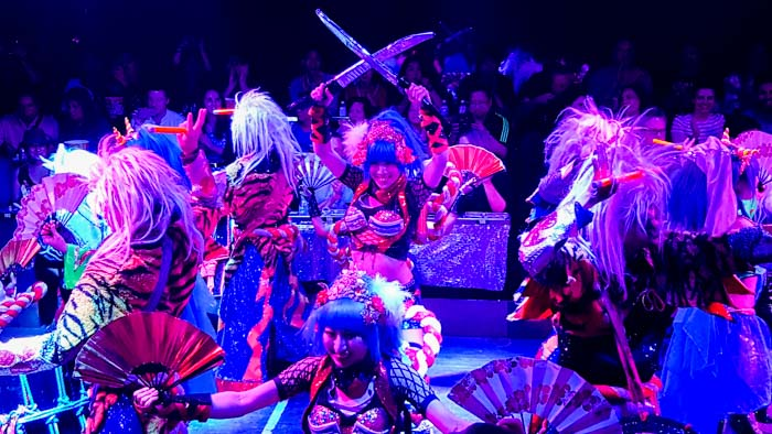 Singing, dancing and theatrics at Robot Restaurant