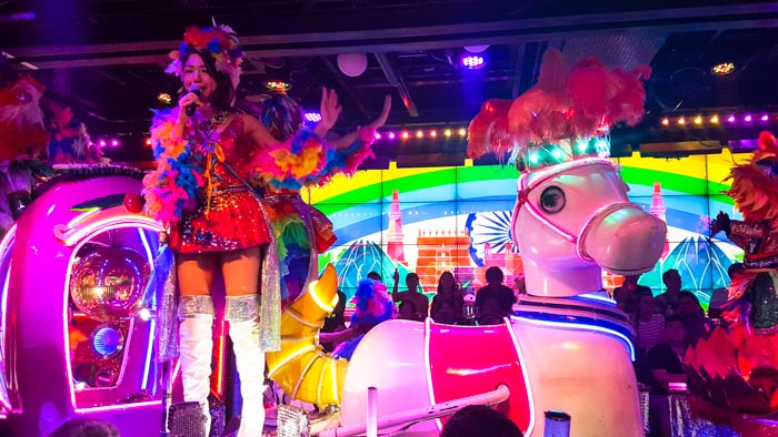 Colourful performances at Robot Restaurant