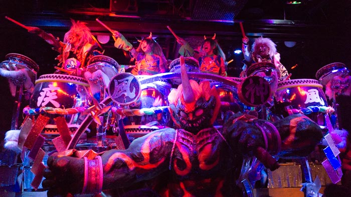 Taiko performances at Robot Restaurant
