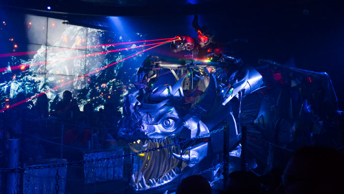 Robots and lasers at Robot Restaurant, Japan