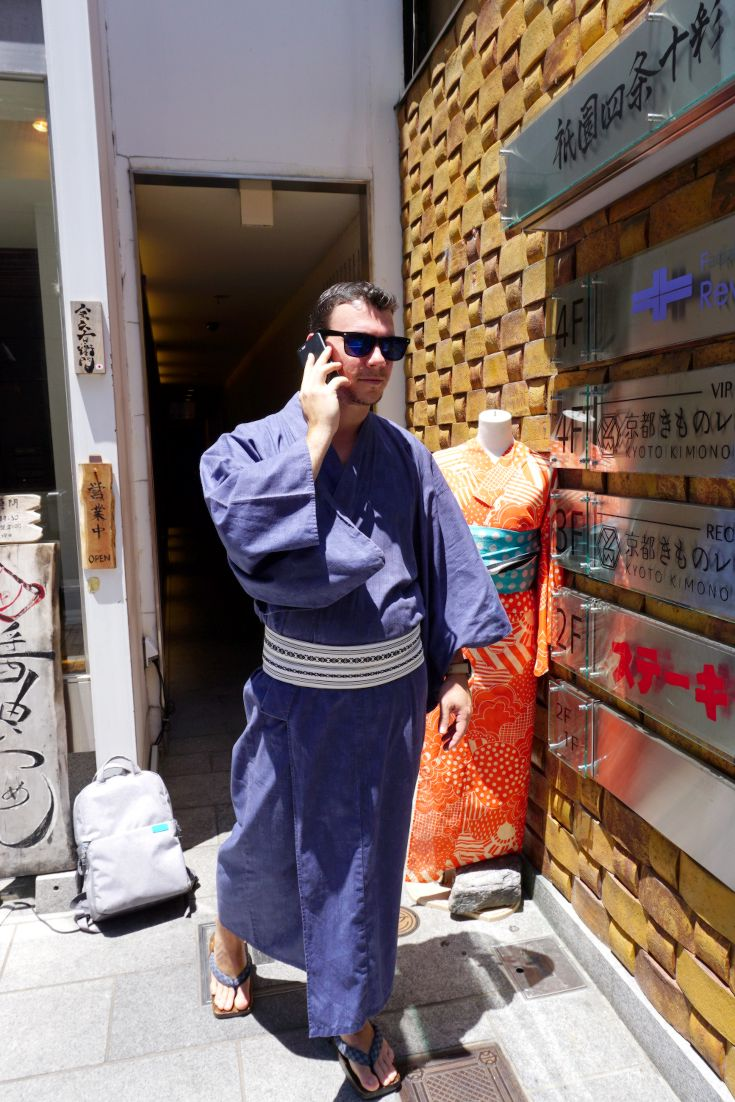 Step out in style in a yukata