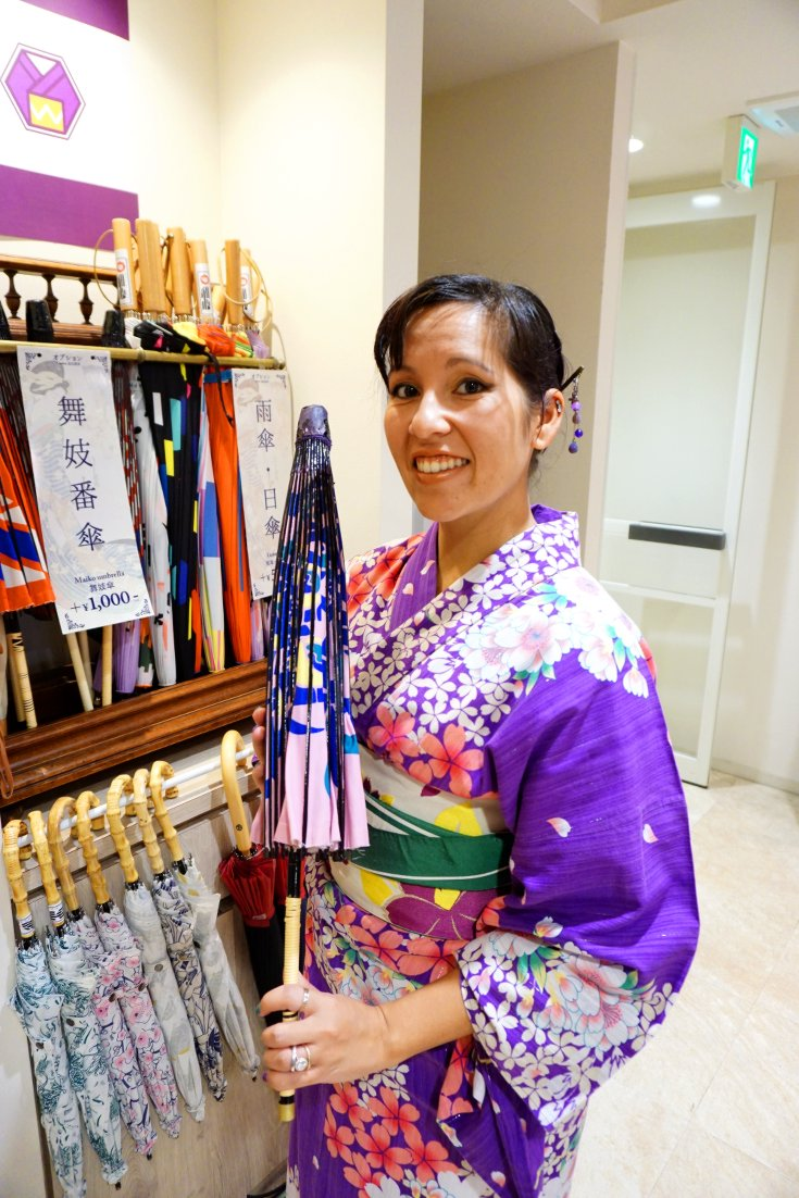 Rental packages for yukata and kimono
