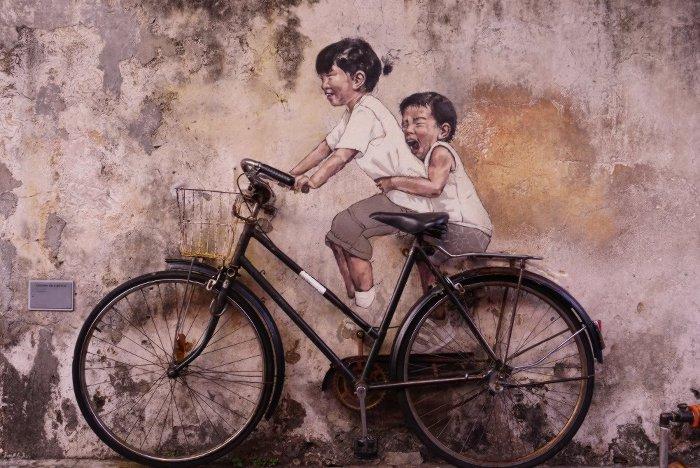 Ernest Zacharevic Street Art, Penang, Malaysia