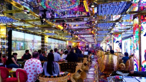 The coolest waiting room you'll ever visit - Robot Restaurant
